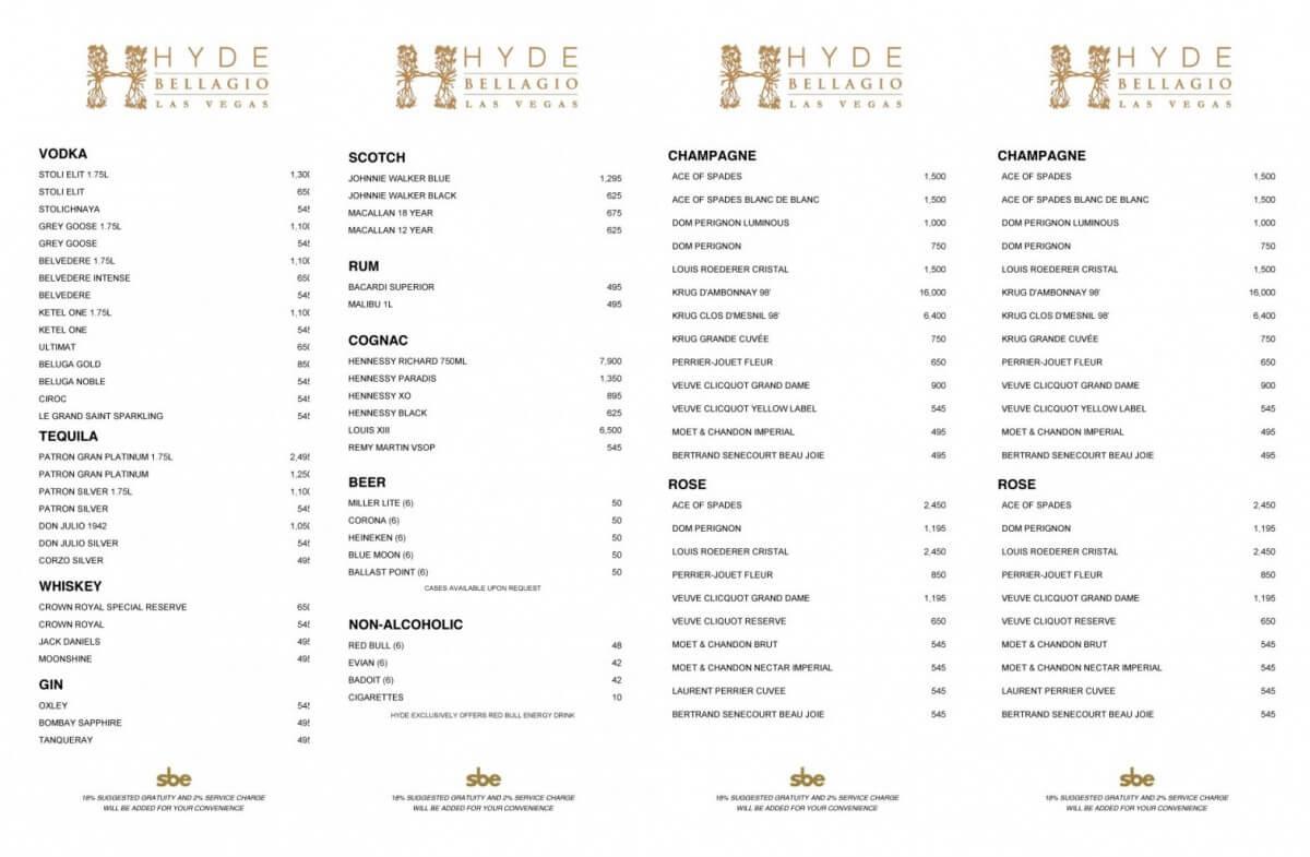 Hyde Nightclub & Lounge – Bellagio Hotel And Casino