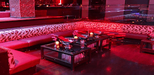 Tao Las Vegas Nightclub Dance floor table