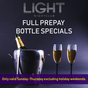 light night club bottle special