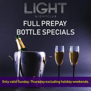 light night club bottle special